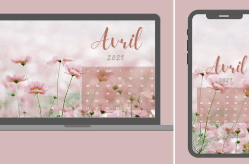 Fond d'écran calendrier avril 2021