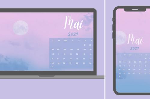 Fond d'écran et calendrier mai 2021