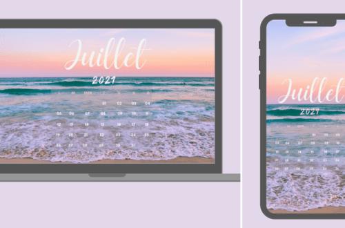 Fond d'écran et calendrier Juillet 2021